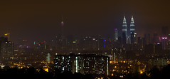 KL Skyline from Ampang Lookout Point (Arushad) Tags: ampangpoint arushadahmed buildings city dash8x kl kltower klcc kualalumpur malaysia night petronas roadtrip skyline travel twintowers