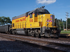 the 700 club (contemplative imaging) Tags: 2016 20160823 august cirail20160823ep5 crystallake il illinois mchenrycounty tuesday up uprr upy unionpacific america american contemplativeimaging diesel diesels digital engine engines ep5 hot jpeg locomotive locomotives midwest midwestern olympus partlycloudy photo photography power railroad railroads railway railways ronzack sooc summer train trains transport transportation unit units usa facebook up700 upy700