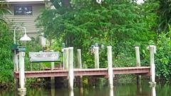 Phillippi Creek (soniaadammurray - OFF) Tags: digitalphotography bench benchmonday trees phillippicreek dock light home reflections nature water