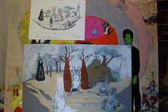 tableau en cours Aleister 236 (mc1984) Tags: mc1984 aleister236 carrots rabbits space croûte peinture acrylique ink