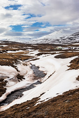 Iceland landscape in spring (Kanonsky) Tags: snow beautiful clouds cold europe explore hills ice iceland journey landscape mountain natural nature river spring travel