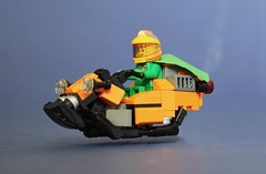 Milagre Hoverbike (Brizzasbricks) Tags: lego space ingot hoverbike hover classic neoclassic federation milagre capim skimming skimmer