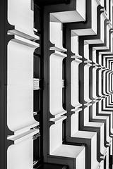 DSC_9060-3 (deborahb0cch1) Tags: blackandwhite monochrome minimalism architecture building outdoor geometric symmetry texture pattern lines abstract zebra