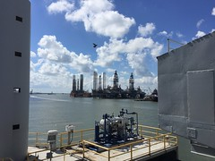 View from Ocean Star Drilling Rig and Museum (MamaKitty) Tags: galveston tx texas ocean star drilling rig museum