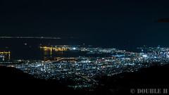 a night view from Mt. Rokko (2) Kobe City, Port Island, Kobe Airport & Kansai International Airport (double-h) Tags: powershotg7x powershot g7x nightview kobe kobecity kobeportisland portisland kobeairport kansaiinternationalairport mtrokko rokkosan tenrandai
