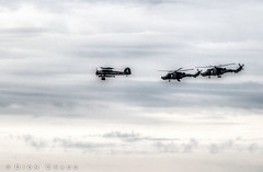 Swordfish & Chopper Support (Dion Cragg) Tags: swordfish fairey faireyswordfish torpedo raf airforce royalairforce sunderland airshow sunderlandairshow helicopter helicopters flight biplane