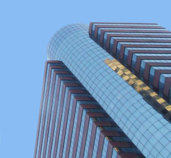 175 Water St (TheMachineStops) Tags: 2013 nyc newyorkcity financialdistrict architecture aig reflection distortion building skyscraper glass windows postmodern fidi manhattan