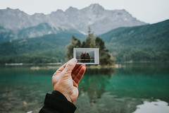 no polaroid anymore (thedecentexposure) Tags: eibsee deutschland mountains berge lake bayern alpen partenkirchen zugspitze traveling garmisch destination reisen travel europe breathtaking germany