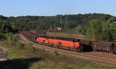 Pulling through XB (GLC 392) Tags: bessemer lake erie railroad railway train emd sd40t3 u702 u70261 sd383 sd38ac sd382 iron ore pa pennsylvania 910 866 902 xb north yard penn hills evening 3 west
