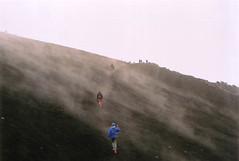 Hiking up the Etna (Peter Bruijn) Tags: etna sicily italy road travel volcano clouds analog analogue 35mm 35mmphoto 35mmphotography nikonfm nikon film kodak ektar superia fuji fujifilm
