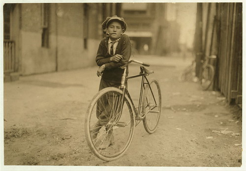 Messenger boy working for Mackay Telegraph Company. Said fifteen years old. Exposed to Red Light dangers. Location: Waco, Texas. (LOC)