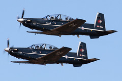 2 CFFTS Trainers (planephotoman) Tags: explore 101 pdx 121 beechcraft raytheon 78 beech 89 canadianmilitary portlandinternationalairport harvardii pdxaircraft nftc 2cffts pdxmilitary ct156 15wing 2cad crosscountryflight phaseiib 156121 156101 cfbmoosejaw natoflyingtrainingincanada sept22012 bandit71flt
