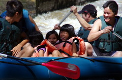 7.8.12 Vyssi Brod Weir 5 235 (donald judge) Tags: river kayak republic czech south canoe raft bohemia vltava brod weir vyssi