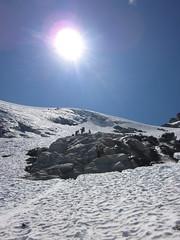 029 working around toe of Kimtah Glacier