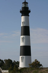 Bodie Island's Striped Tower (California Will) Tags: lighthouse faro nc northcarolina atlantic dare outerbanks phare obx bodieisland lightstation lighthousetrek