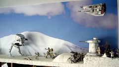 "Battle of Hoth diorama - rebel snowspeeder flying over battle ground • <a style=""font-size:0.8em;"" href=""http://www.flickr.com/photos/86825788@N06/7949263678/"" target=""_blank"">View on Flickr</a>"