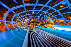 Interwebs (draken413o) Tags: architecture night lights singapore web orchard structure fisheye exciting ion