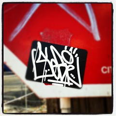 SEGE (billy craven) Tags: chicago graffiti sticker handstyles cya rgs slaptag sege uploaded:by=instagram