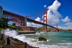 Golden Gate Bridge (Darvin Atkeson) Tags: ocean sanfrancisco california pacific spray goldengatebridge fortpoint darvin atkeson darv liquidmoonlightcom