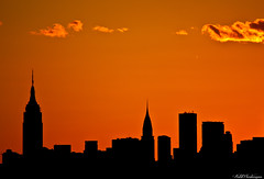 The Empire and the Chrysler (p.i.n.o.c.c.h.i.o) Tags: nyc newyorkcity sunset newyork silhouette skyline newyorkskyline empirestatebuilding empirestate chrysler chryslerbuilding nycskyline usopen arthurashe newyorksunset mygearandme empirestatechrysler empirestatesilhouette