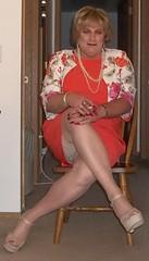 100_0312 (didi_lynn) Tags: sexy drag highheels sandals cigarette smoke jewelry pearls crossdressing hose smoking tgirl blond blonde upskirt hosiery dragqueen pantyhose crossdresser crossdress gurl platforms tg sexylegs longlegs nylons classy rednails bigtits pearlnecklace girdle longnails vs120