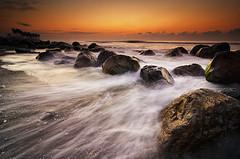 Wave Motion of Manyar (eggysayoga) Tags: sea bali seascape motion beach night sunrise indonesia landscape nikon hard wave tokina clear lee graduated leefilter 1116mm manyar d7000