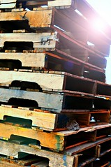 Stack of Pallets (floralgal) Tags: wood stack pallets woodenpallets stackofpallets