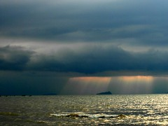 And the rains came... (Peter Denton) Tags: sea cloud seascape storm rain weather marine dramatic sarawak malaysia borneo southchinasea jacobsladder weatherfront explored inexplore ©peterdenton samsungwb750
