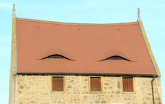 Dormer eyes (:Linda:) Tags: roof eye abbey germany monastery dach dachziegel kloster gaupe dormer rooftile gaube saxonyanhalt schulpforte cistercianmonastery similarto resembling hnlich zisterzienserkloster schulpforta badksen dachgaupe pforta dachgaube dachschindel