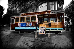 "Cable Car (From Timelapse ""A Ride in California"") (Louis PERPERE) Tags: sf california usa white black car america timelapse nikon san francisco noir united railway cable tokina states blanc f28 1116mm d7000"