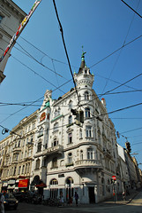 Wired (moke076) Tags: vienna street travel vacation building electric austria wire europe scene wires knight ornate topper 2012