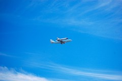 Endeavour flies over San Francisco, San Bruno Mountain (David McSpadden) Tags: spaceshuttle endeavour sanbrunomountain spaceshuttleendeavorfliesoversanfrancisco