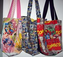 """Crypt Keepers"" Comics Bags (Courtastic) Tags: comics dc spiderman ironman superman wonderwoman supergirl batgirl hulk thor marvel captainamerica wolverine totebag theavengers cryptkeepers comiccryptbags"