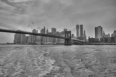 Brooklyn Bridge (HDR) (reflexbeginner) Tags: sanfrancisco nyc bw usa newyork nature america landscape nationalpark nikon honeymoon unitedstates nikkor viaggiodinozze statiuniti d90 wonderfulview