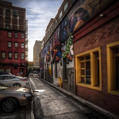 that alley in cincinnati (elmofoto) Tags: street ohio streetart square alley nikon mural cincinnati fav20 hdr d300 500x500 fav10 5000v elmofoto lorenzomontezemolo
