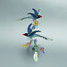 48. Formosan Blue Magpie Brooch