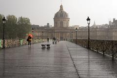 Sous la pluie -1- (jf garbez) Tags: city bridge people paris france monument rain seine town nikon europa europe ledefrance pluie structure pont nikkor iledefrance personnes ville gens pontdes