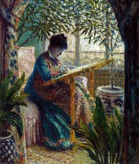 Claude Monet - Madame Monet Embroidering, 1875 at the Barnes Foundation Philadelphia PA (mbell1975) Tags: madame art philadelphia museum painting french us gallery museu fine arts musée musee m foundation pa monet impressionism claude museo barnes impression impressionist muzeum penna finearts 1875 müze embroidering museumuseum