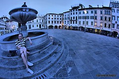 05:59 am - Blue hours with Dave (giacomarco1981) Tags: city italy canon square eos fisheye bluehour piazza città udine friuliveneziagiulia orablu piazzasangiacomo 450d club16 samyang8mm
