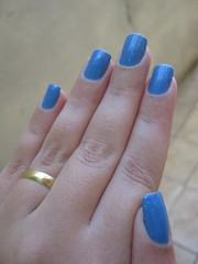 Lapis Lazuli - Top Beauty + Paz e Amor - Impala (Natalia Breda) Tags: azul impala flocado topbeauty esmaltenacional