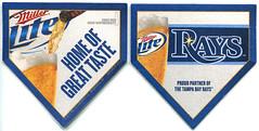 Miller Lite - Baseball 2012 (roger4336) Tags: beer baseball tampabay miller beermat bier rays millerlite 2012 bierdeckel homeplate beercoaster