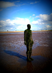 Another Place at Crosby Beach (chrisbell50000) Tags: shadow sculpture man reflection men beach water modern naked nude penis sand iron place bare cock anthony another knob sculptures pornographic gormley crosby merseyside undressed blundellsands chrisbellphotocom