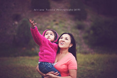 A child's life (Adriana Gomez (Adriana Varela)) Tags: newmexico parenthood girl childhood forest outdoors toddler child mother lookingup nativeamerican parent learning teaching browneyes amazed nmchildrensphotographer