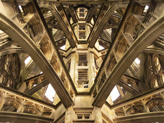 Inside the tallest church tower in the world, Ulm Minster, Germany (Habub3) Tags: city travel holiday building tower architecture canon germany deutschland reisen europa europe urlaub perspective kirche powershot stadt architektur turm minster bauwerk gebude ulm mnster vacanze 2012 cathedrale g12 symmetrie habub3 mygearandme