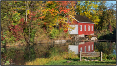 The saw mill at DeCew Falls, St. Catharines, Ontario (Mustang Joe) Tags: mill water st creek lumix waterfall falls panasonic catharines dmc morningstar decew lx7 beaverdams panasoniclumixdmclx7