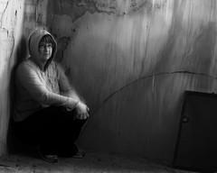 Week 38 of 52 (The Shutterbug Eye™) Tags: portrait blackandwhite woman selfportrait black abandoned church monochrome self dark lost photography photo nikon texas tx gray picture photograph urbex d90 bomarten