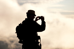 Shooter on the Mountain (clay.wells (Explorer of the High Ozarks)) Tags: mountain silhouette fog clouds sunrise canon lens eos prime october photographer jean mark east ii 5d usm overlook ef 2012 petit 135mm shoottheshooter f2l img8616