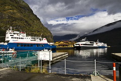 Flm (n_safronov) Tags: travel sky mountain tourism nature water norway clouds ship fjord fjords flam sloud
