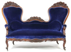 3. Victorian High Back Sofa, circa 1860