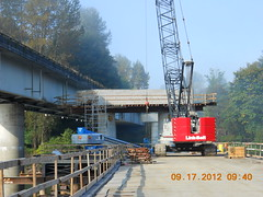 Working on the new Snohomish River Bridge (WSDOT) Tags: msp monroe retainingwall bridgepiers elliottroad sr522 snohomishriverbridge 164thstreetse